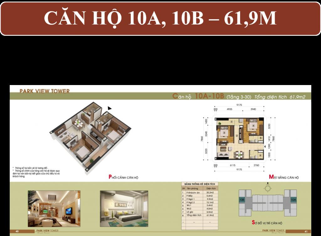 Thiết kế căn hộ chung cư view 10