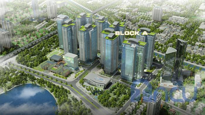 Khu căn hộ Block A chung cư Goldmark City