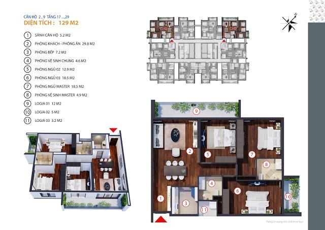 Căn hộ 2,9 tầng 17-29