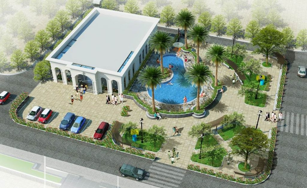 Khu giải trí và bể bơi của dự án