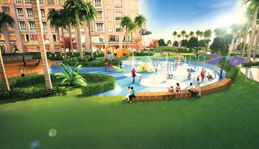 bể bơi và khu vui chơi chung cư new horizon