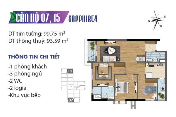 Mặt bằng căn hộ 7,15