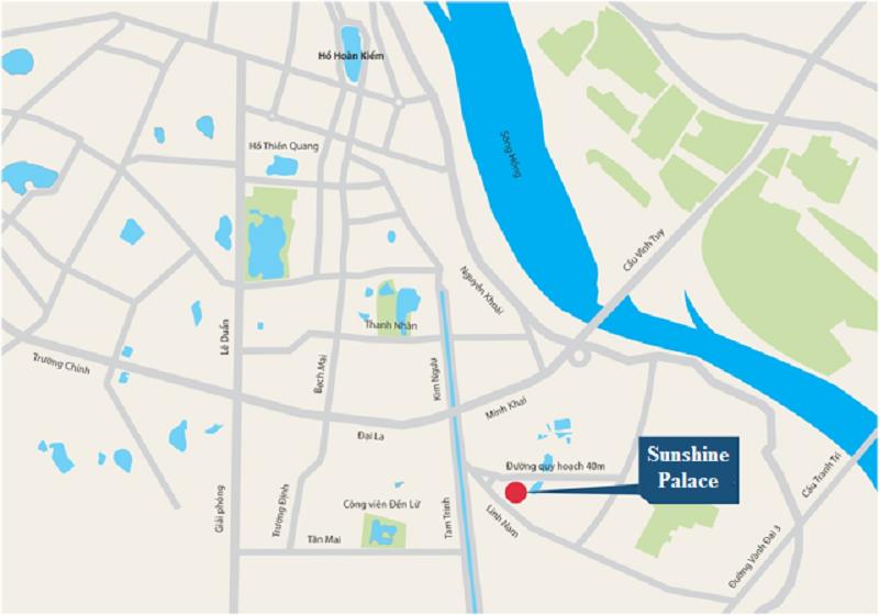 vị trí dự án chung cư SUNSHINE PALACE