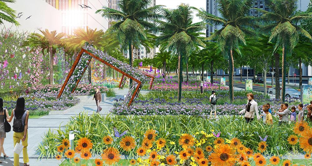 Vườn hoa Cầu Vồng dự án