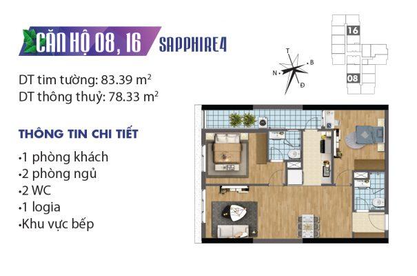 Thiết kế căn hộ 04 tòa Sapphire 08, 16 chung cư Goldmark City