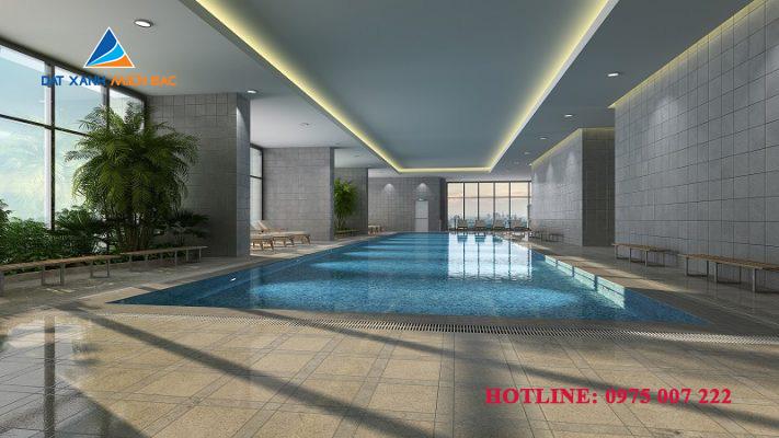 Bể bơi trong nhà chung cư Goldmark City