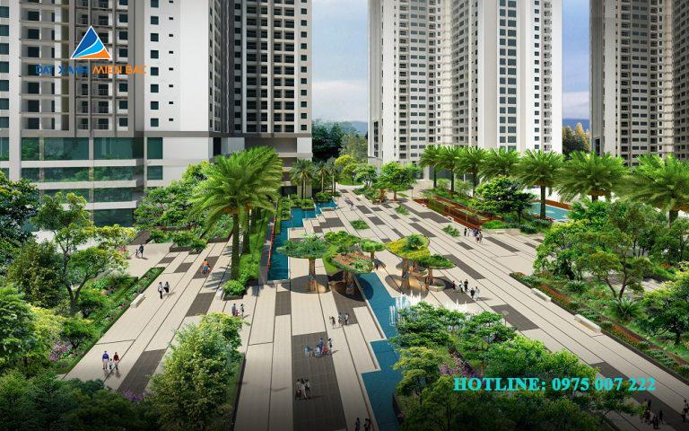 Quảng trường dự án chung cư Goldmark city